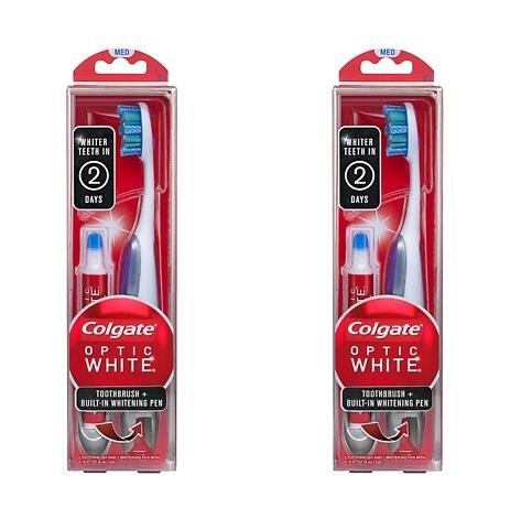optic white toothbrushes