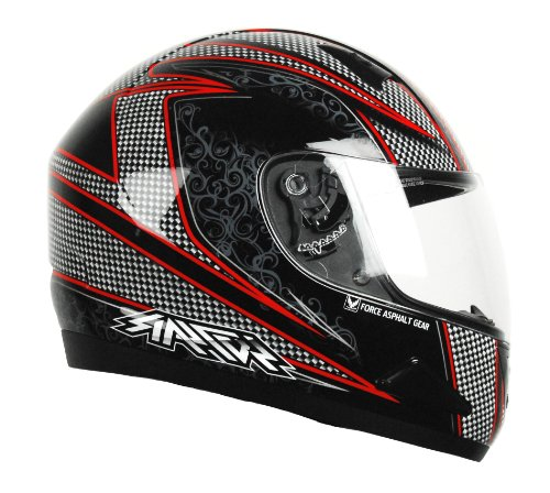 (Raptor Full Face Snow Helmet with Asphalt Graphic (Red, XX-Large))