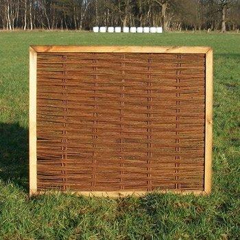 Weidenzaun / Flechtzaun / Gartenzaun 'Easily' als Sichtschutz und Windschutz - Sichtschutzzaun 1 Stück, 120 x 140 cm