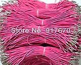 FINCOS 4mm 500pcs/lot Elastic Cord with Metal Barbs 43.50cm Lenght Pink Elastic String