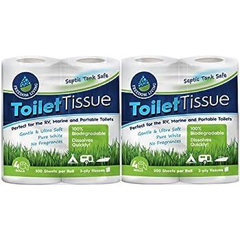 Amazon Com Septic Tank Safe Toilet Tissue 2 Ply 4 Rolls