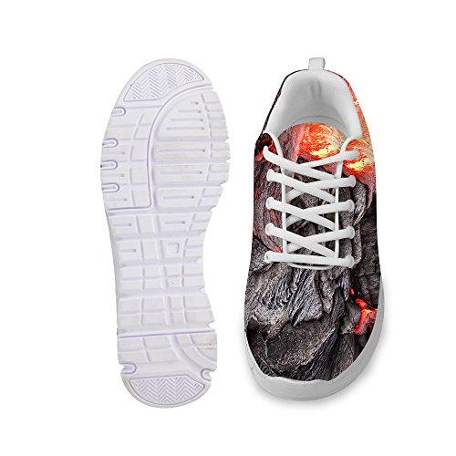 Per Te Disegni Moda Unisex Flex Gusto Corridore Maglia Sneaker Treno Traspirante Scarpe Da Corsa Grigio 1
