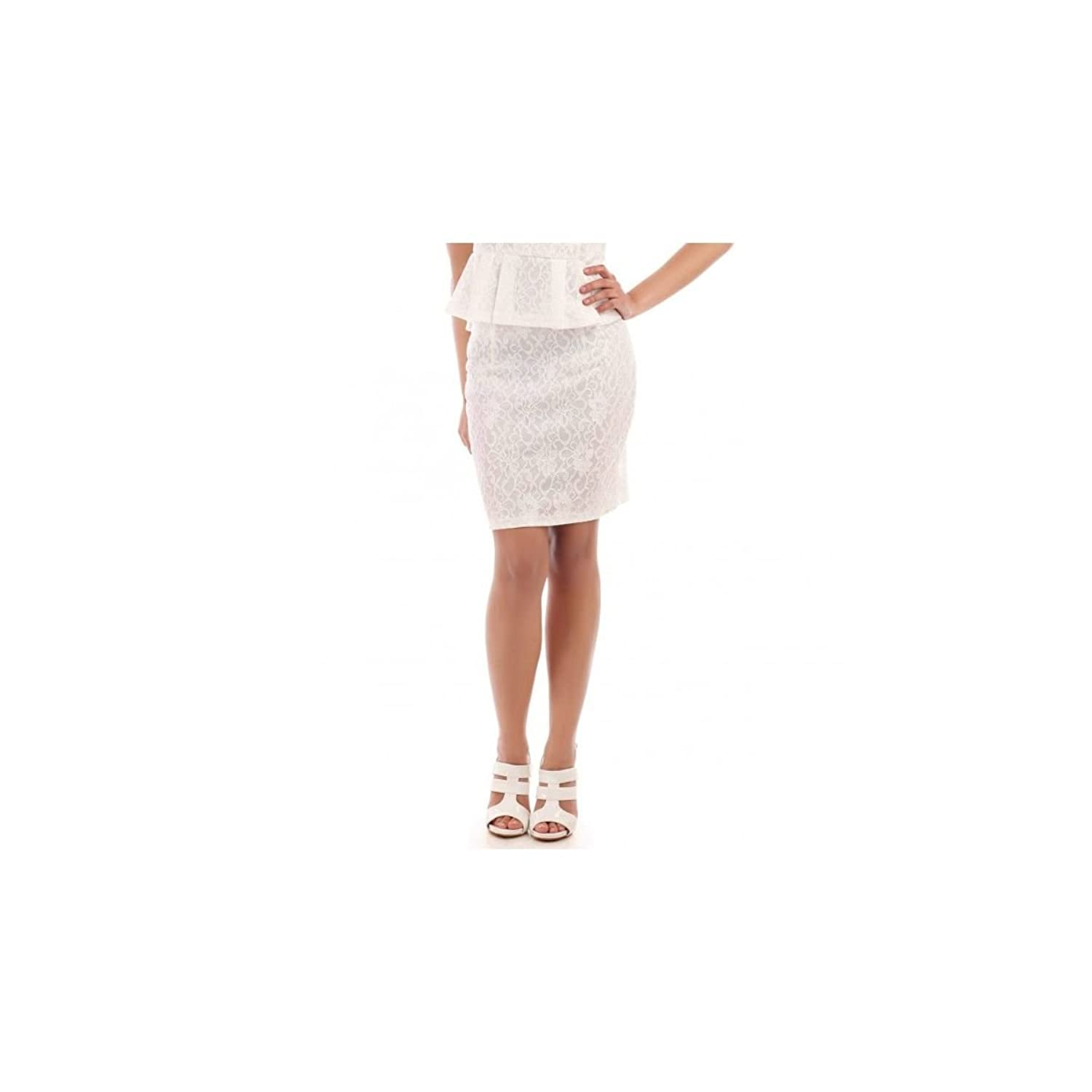 La Modeuse?-?Figure-Hugging Lace Skirt With Zip At The Back