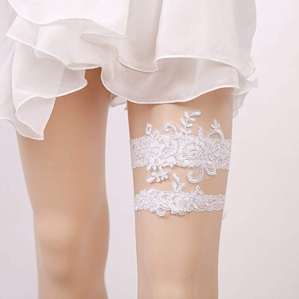 d6410dddafc Bhwin Rhinestones Lace Bridal Garter Belt Set Vintage Beaded Wedding Garter  (Style 1)  Amazon.ca  Clothing   Accessories