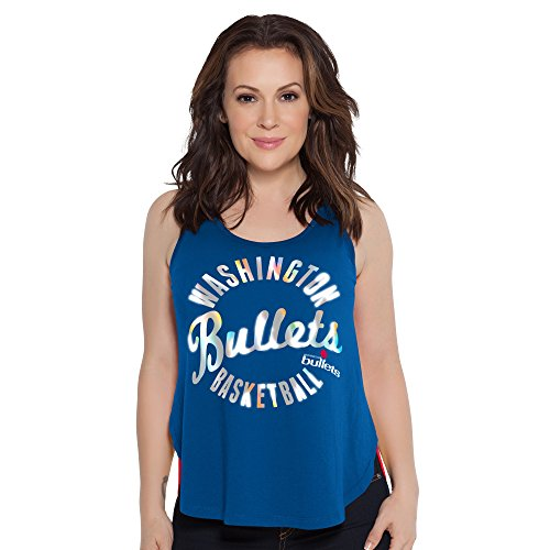 Touch by Alyssa Milano NBA Washington Bullets Fair Catch Tank, Large, Royal