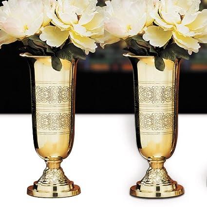 Amazon Catholic Religious Altar Vases With Filigree Design