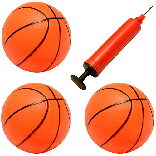 Liberty Imports Set of 3 Inflatable Magic Shot Mini Hoop Replacement Basketballs with Pump and Needle -