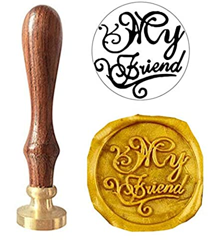 MNYR My Friend Signature Monogram Wax Seal Sealing Stamp Calligraphy Embellishment Invitation Card Snail