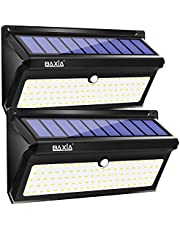 BAXiA Solar Lights Outdoor 100 LED, Upgraded 2000LM Super Bright Solar Security Lights, Waterproof Solar Lights Motion Sensor for Garden Outside Wall Porch Driveway Garage Pathway, 2 Pack