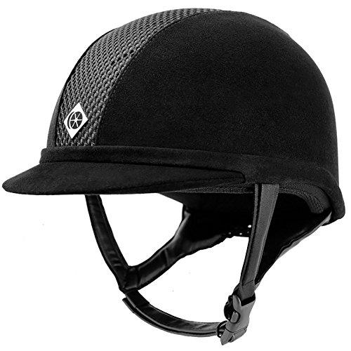 Charles Owen Ayr8 Plus Riding Hat Round Fit Black 56cm