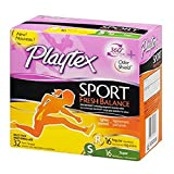 Playtex Plastic Tampons Sport Fresh Balance Multi-Pack Regular/Super Lightly Scented - 32 ct