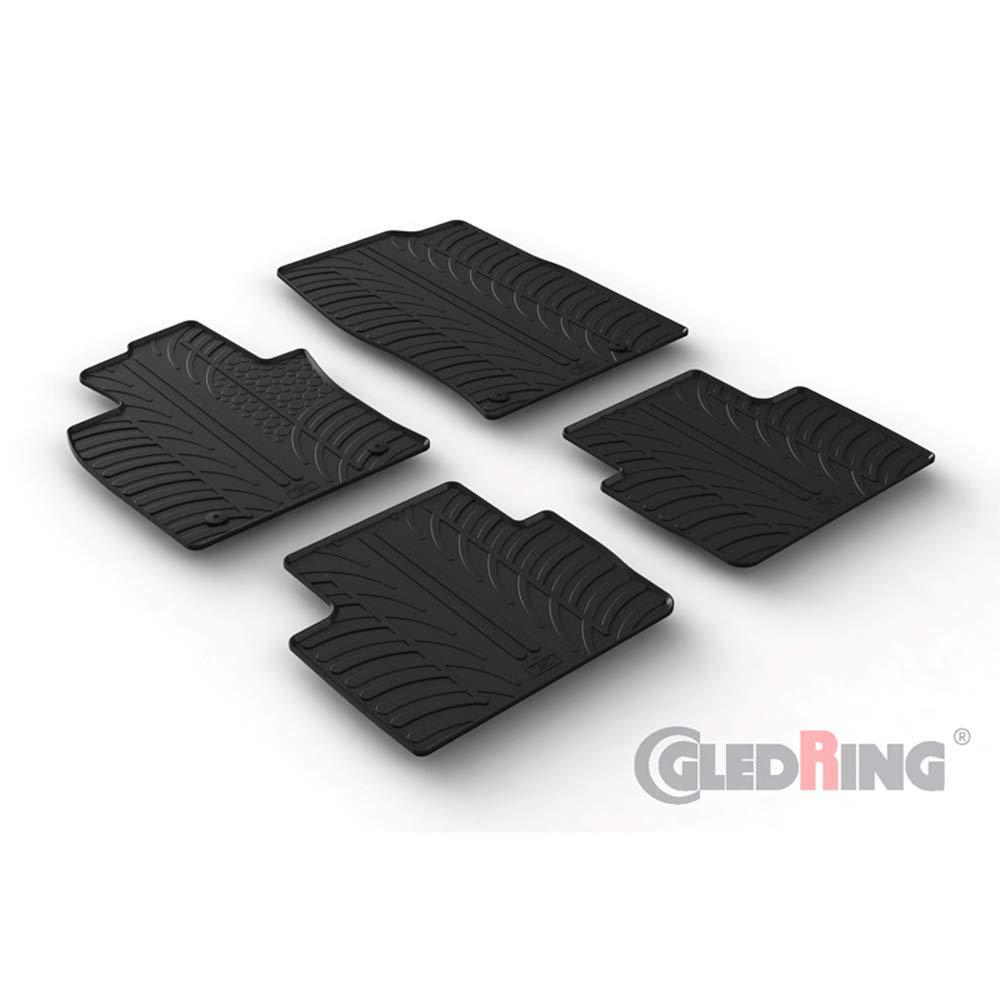 Profilo a T + Clip di Montaggio Set di tappetini in Gomma per Mazda CX-30 8//2019 Gledring 0226 4 Pezzi