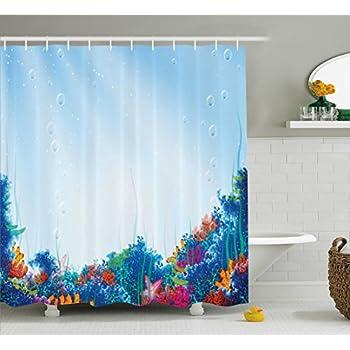 95+ Underwater Shower Curtains - Ocean Sealife Shower Curtain, 2016 ...