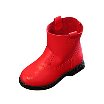 Anshinto Children Martin Solid Sneaker Winter Warm Baby Girls Casual Shoes Boots