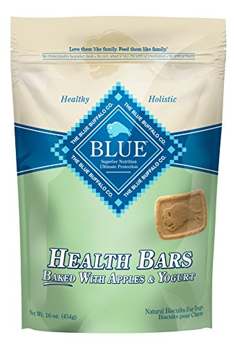 BLUE Health Bars Baked with Apples and Yogurt Crunchy Dog Treats, 16 oz (Pack of 12) by Blue