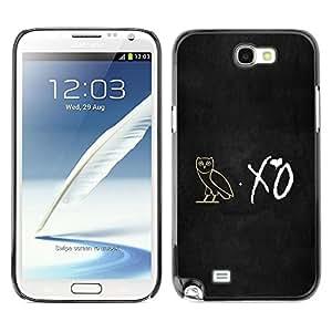 Be Good Phone Accessory // Dura Cáscara cubierta Protectora Caso Carcasa Funda de Protección para Samsung Note 2 N7100 // XO Night Owl