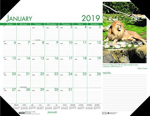 Wildlife Desk Pad Calendar - House of Doolittle 2019 Monthly Desk Pad Calendar, Earthscapes Wildlife, 22 x 17 Inches, January - December (HOD172-19)