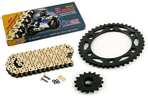 Honda Cbr1000rr Race - 2006-2007 Fits Honda CBR1000RR CZ SDZZ Gold X Ring Chain And Sprocket Kit 16/42 120L