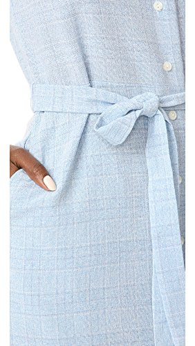 Jay Belted Flower s amp Ali Dress Chambray Plaid Sleeveless Frolicking Printed Midi Women 5Z0SCwx