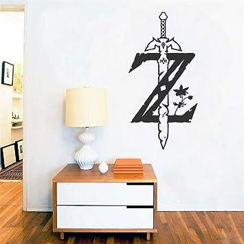 pegatina de pared 3d The Legend of Zelda Juego de calcomanías Breath of the Wild para la decoración de la habitación de los niños Dormitorio Sala de juegos: Amazon.es: Bricolaje y herramientas