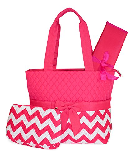 quilted pink diaper bag - 7
