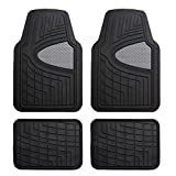 FH Group F11311GRAYBLACK Gray/Black Heavy Duty Tall Channel Rubber Floor Mats