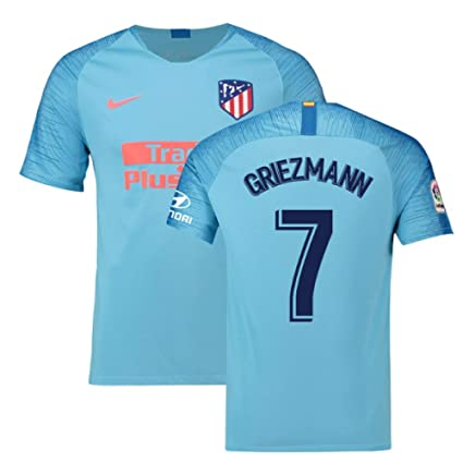 84168c03f Image Unavailable. Image not available for. Color  2018-2019 Atletico Madrid  Away Nike Football Soccer T-Shirt Jersey (Antoine Griezmann
