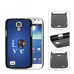 Love Air Force Brown Helmet with Royal Blue Background Samsung i9190 Galaxy S4 (MINI) Hard Snap on Plastic Cell Phone Case Cover