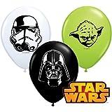 "Star Wars Faces Assortment 5"" Qualatex Latex Balloons x 10"