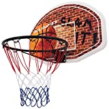 Goplus Portable 29' x 20' Basketball Backboard and Rim Wall Mounted Hoop For Indoor Outdoor Sports