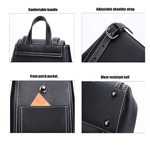 Pelle Donna Black Ragazza Universitá Moda Backpack Da Viaggio Lnkh Donne In Zaino Borsa Impermeabile Per Antifurto qTZpIw4np5