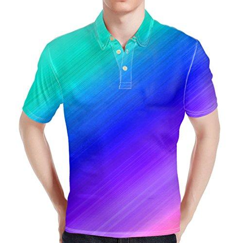 HUGS IDEA Bright Color Fashion Men's Pique Polos Shirst Soft T-Shirt Summer Short Sleeve Work Sport Tee Tops
