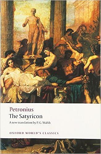 The Satyricon By Petronius