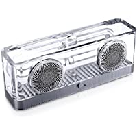 kuman HIFI Bluetooth Speakers with Transparent Solid Enclosure, Integrated Stereo Portable Digital Speaker 8W x 2, Built in Microphone Hands-free Phone Call for iPhone Samsung HTC Smartphones KBT-240A