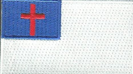Parche de bandera de Cristiano para planchar, 2 1/2 pulgadas ...