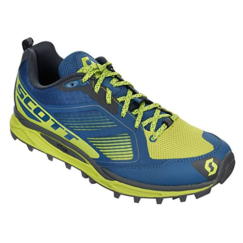 Scott running Zapatilla kinabalu supertrac-blue/yellow-8 usa