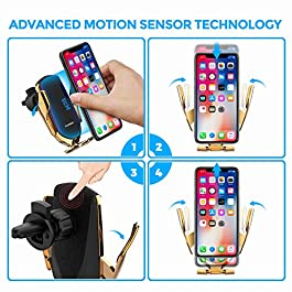 2020 Updated Universal Cell Phone Holderfor Car, Hands-Free One Touch Automatic Clamp Phone Mount, Air VentCell Phone Mount for iPhone, Samsung, Google Pixel, Moto, Nokia, and More