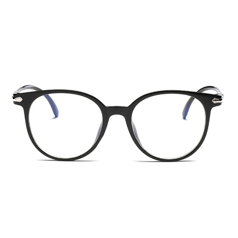 5c3230caa9 Amazon.com  iCaptainAB Unisex Non Prescription Glasses and Fake Eyeglasses  and Black Frame Clear Lenses Eyeglasses  Clothing