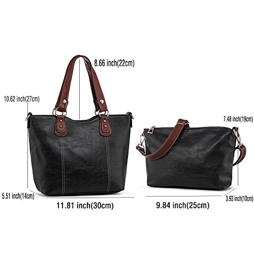 Women Handbags UTAKE Shoulder Tote PU Leather Top Handle Purses Large Capacity