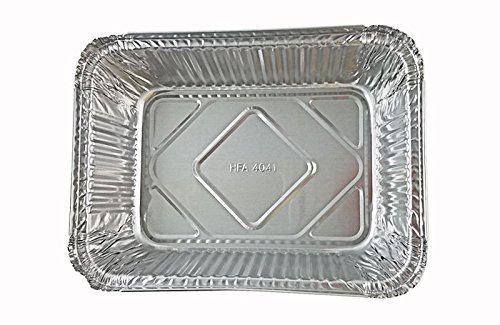 Handi-Foil 5 lb. Oblong Aluminum Entrée Dinner Food Storage Pan w/Board Lid (pack of 250)