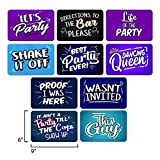 COOL PHOTO BOOTH SIGN PROPS - Set of 5 - Double Sided. Durable PVC Plastic. Reusable. Perfect for Photobooth Events, Birthday Parties, Weddings. Funny Photo booth Party Props.