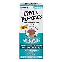 Pequeños remedios Gripe Agua, sin alcohol, bicarbonato de sodio, color artificial y sin gluten, seguro para los recién nacidos, botella de 4 oz