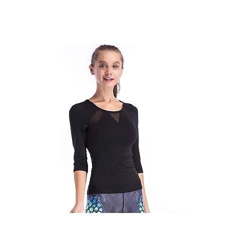 Camiseta de entrenamiento de yoga para mujer Top de manga ...