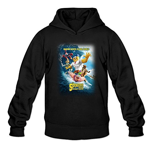 Men's Sponge Out Of Water Poster Funny Hoodie Black X-Large