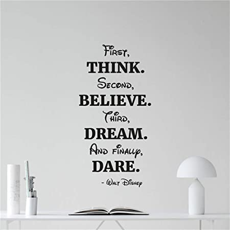 yiyiyaya Pegatinas de Pared Tatuajes de Pared Think Believe Dream ...