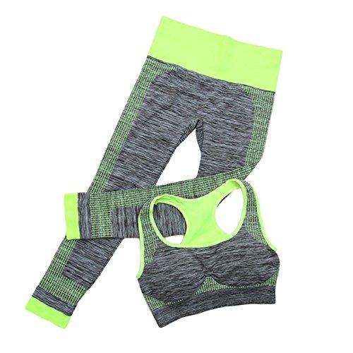 HMILYDYK Sport Suits Bras Yoga Pants Leggings Set Yoga Gym Outfits Seamless Exercise Sports Wear for Women