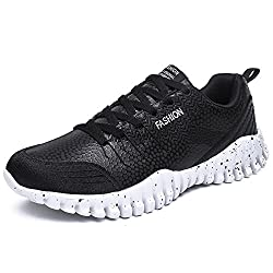 YZHYXS Men's Running Shoes Spring Summer Breathable Comfortable Outdoor Sport Shoes (6, Black)