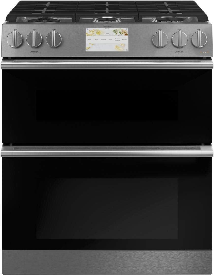Cafe C2S950M2NS5 30 Inch Platinum Slide-in Dual Fuel Convection Range