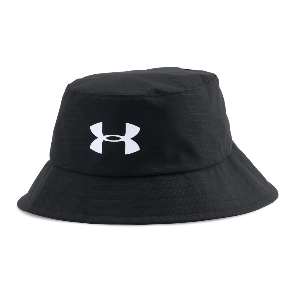 Under Armour Men's Storm Golf Bucket Hat, Black (001)/White, Medium