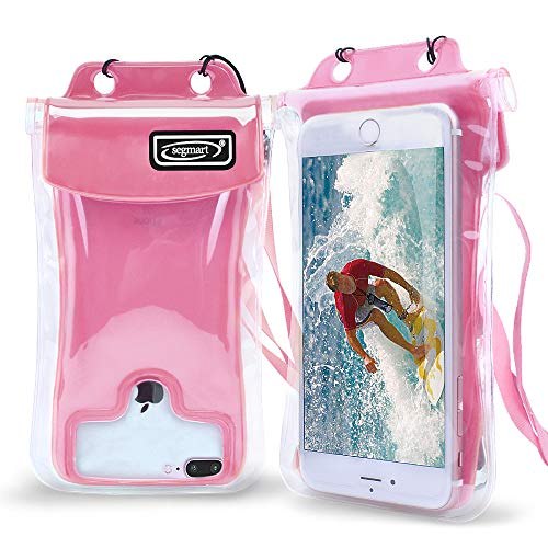 SEGMART Waterproof Cell Phone Pouch Dry-Bag (Pink) (Cellular Phone Pouch)